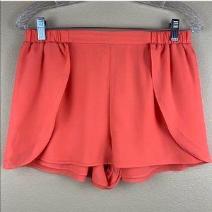 • BCBGeneration • Orange Silky Layered Shorts